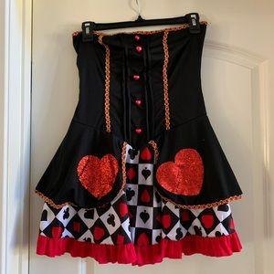 Alice in Wonderland Red Queen Costume, size s/m